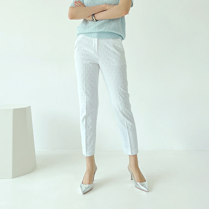 Jacquard Slim-Fit Pants