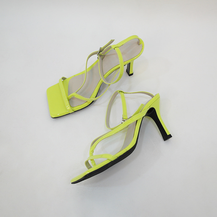 Patent Square Toe Sandals